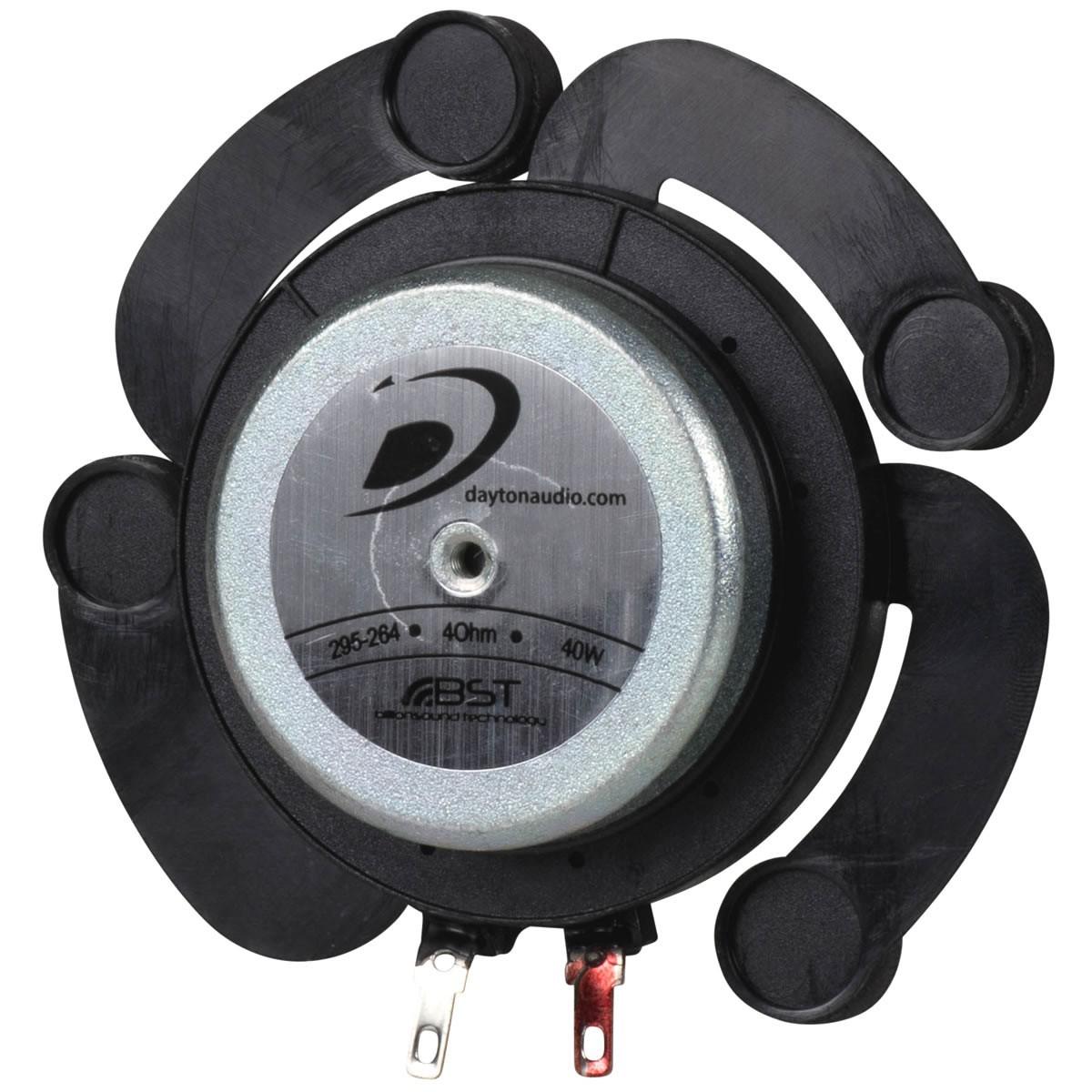 DAYTON AUDIO DAEX32QMB-4 Haut-Parleur Quad Vibreur Exciter Mega Bass 40W 4 Ohm Ø 3.2cm