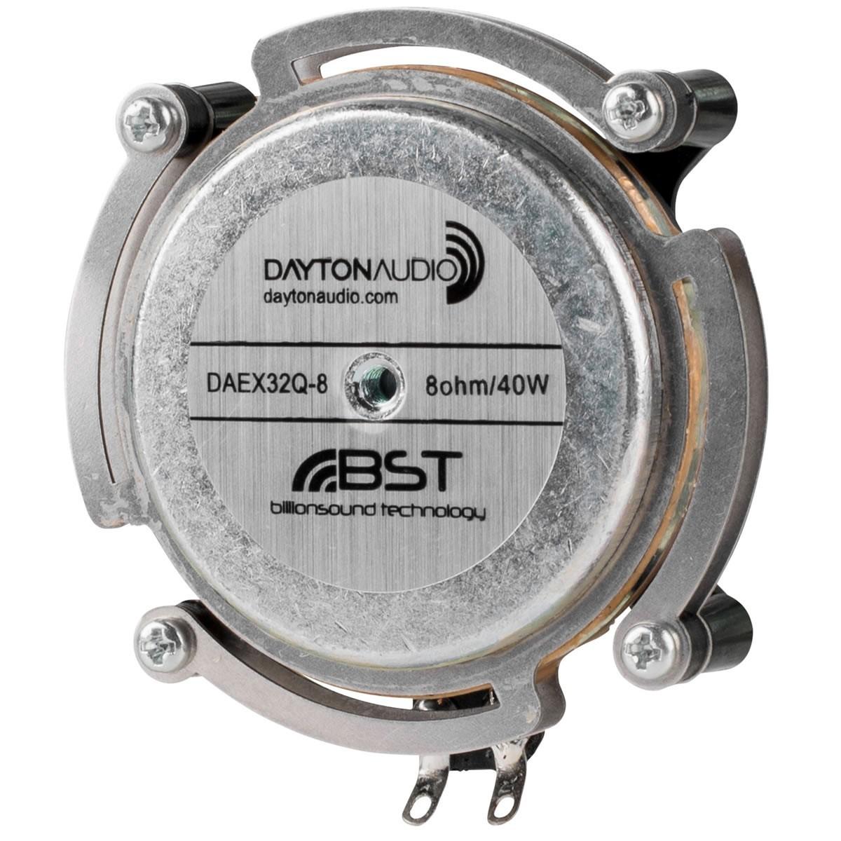 DAYTON AUDIO DAEX32Q-8 Haut-Parleur Vibreur Exciter 20W 8 Ohm Ø3.2cm