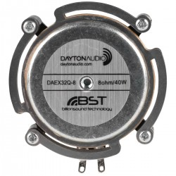Dayton Audio DAEX32Q-8 Dual Steel Spring Balanced Exciter 32mm 40W 8 Ohm