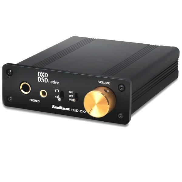 AUDINST HUD-DX1 Amplificateur Casque / DAC USB / Préamplificateur 32bit 384kHz DSD Noir