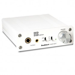 AUDINST HUD-DX1 Headphone Amplifier / USB DAC / Preamp 32/384kHz DSD White