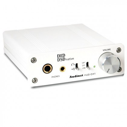 AUDINST HUD-DX1 Amplificateur Casque / DAC USB / Preamp 32/384kHz DSD White