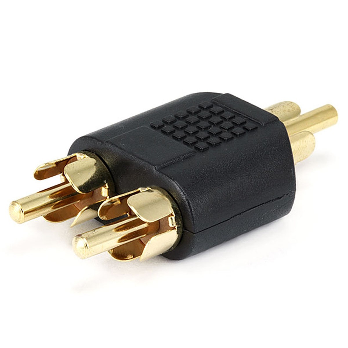 Adaptor splitter Gold plated RCA male to 2x RCA male