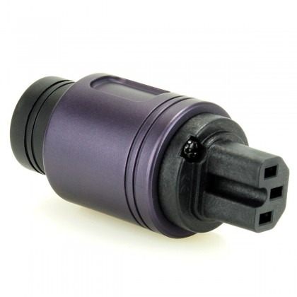 ELECAUDIO RI-24GP Connecteur Secteur IEC Plaquage Or 24k Purple Ø 16.5mm