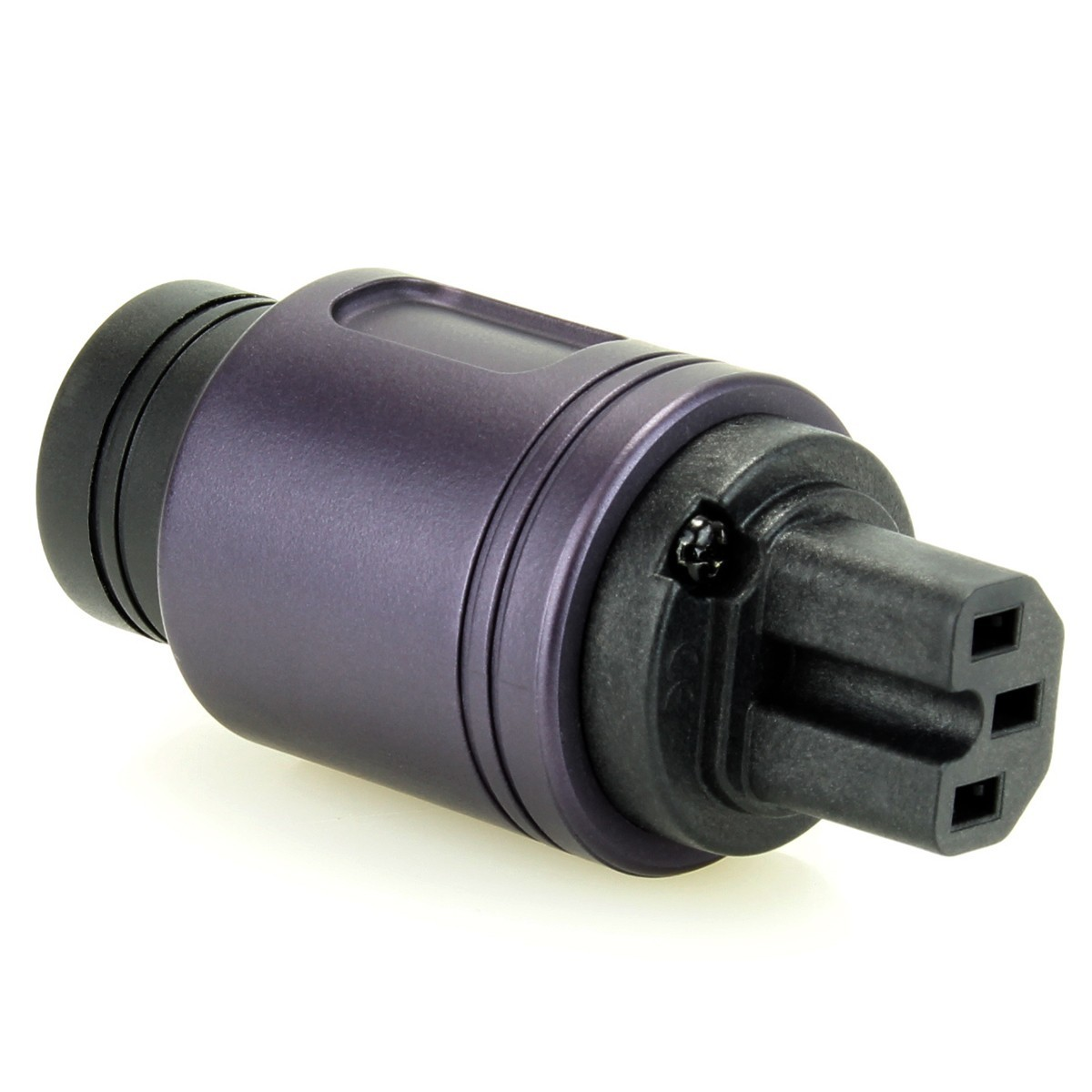 ELECAUDIO RI-24GP Connecteur Secteur IEC Plaqué Or 24k Purple Ø16.5mm