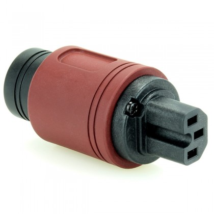 ELECAUDIO RI-24GW Connecteur Secteur IEC Plaquage Or 24k Wine Ø 16.5mm