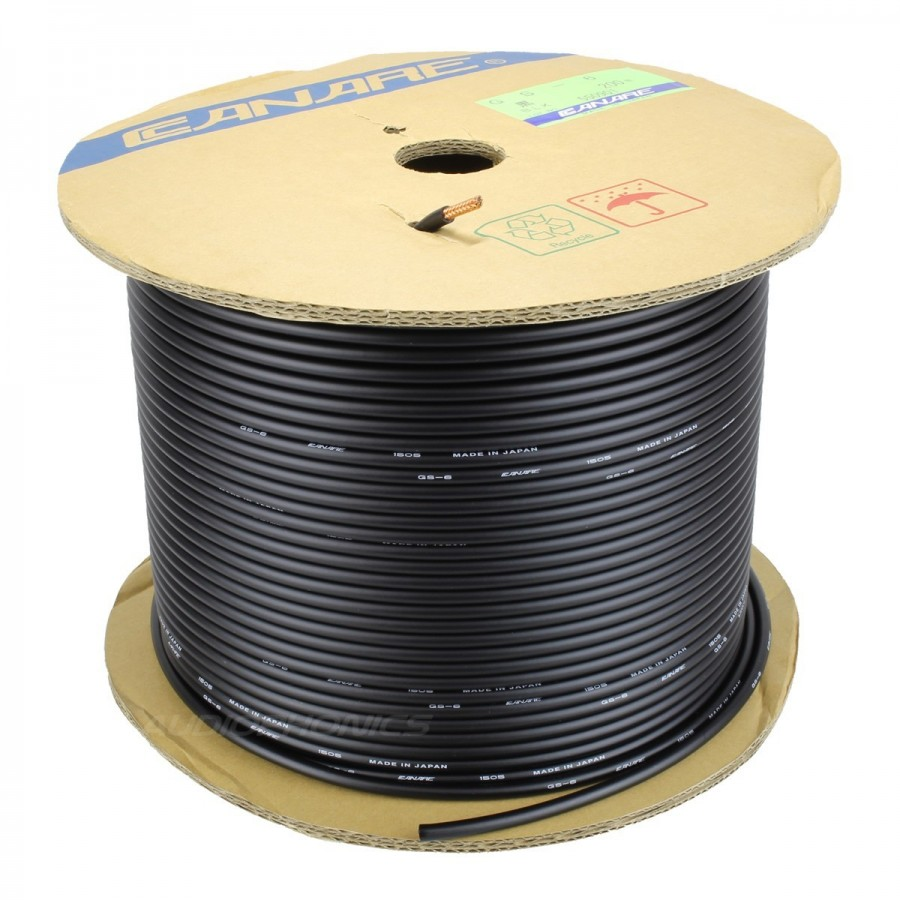CANARE GS-6 High performance unbalanced OFC cable Carbon shielded Ø5 ...