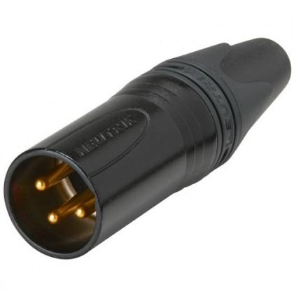 Neutrik NC3MXX-B Connecteur XLR Mâle plaqué Or Ø 8mm (Unité)