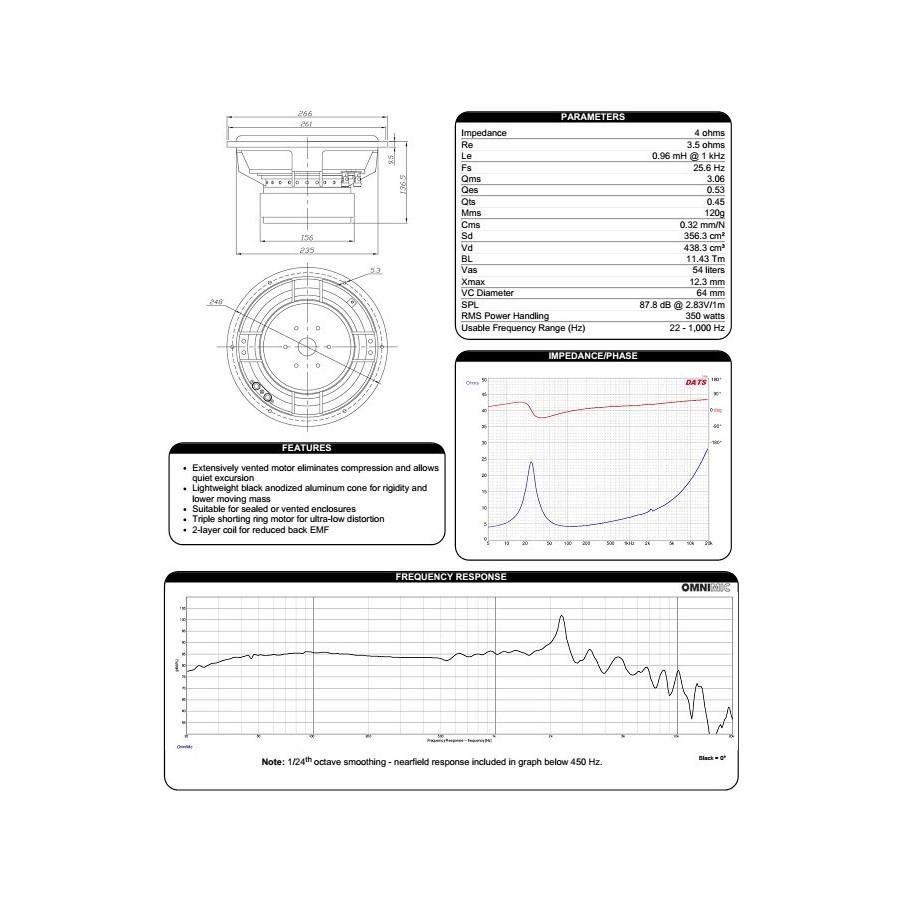 Dayton Audio Rss265hf 4 Reference Speaker Driver Subwoofer Aluminium Wiring Diagram Motor Share The Knownledge Hp De Grave 255cm