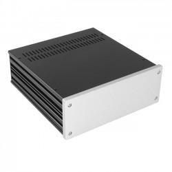HIFI 2000 Boitier 10mm GX283 - 80x230x230 - Facade Silver