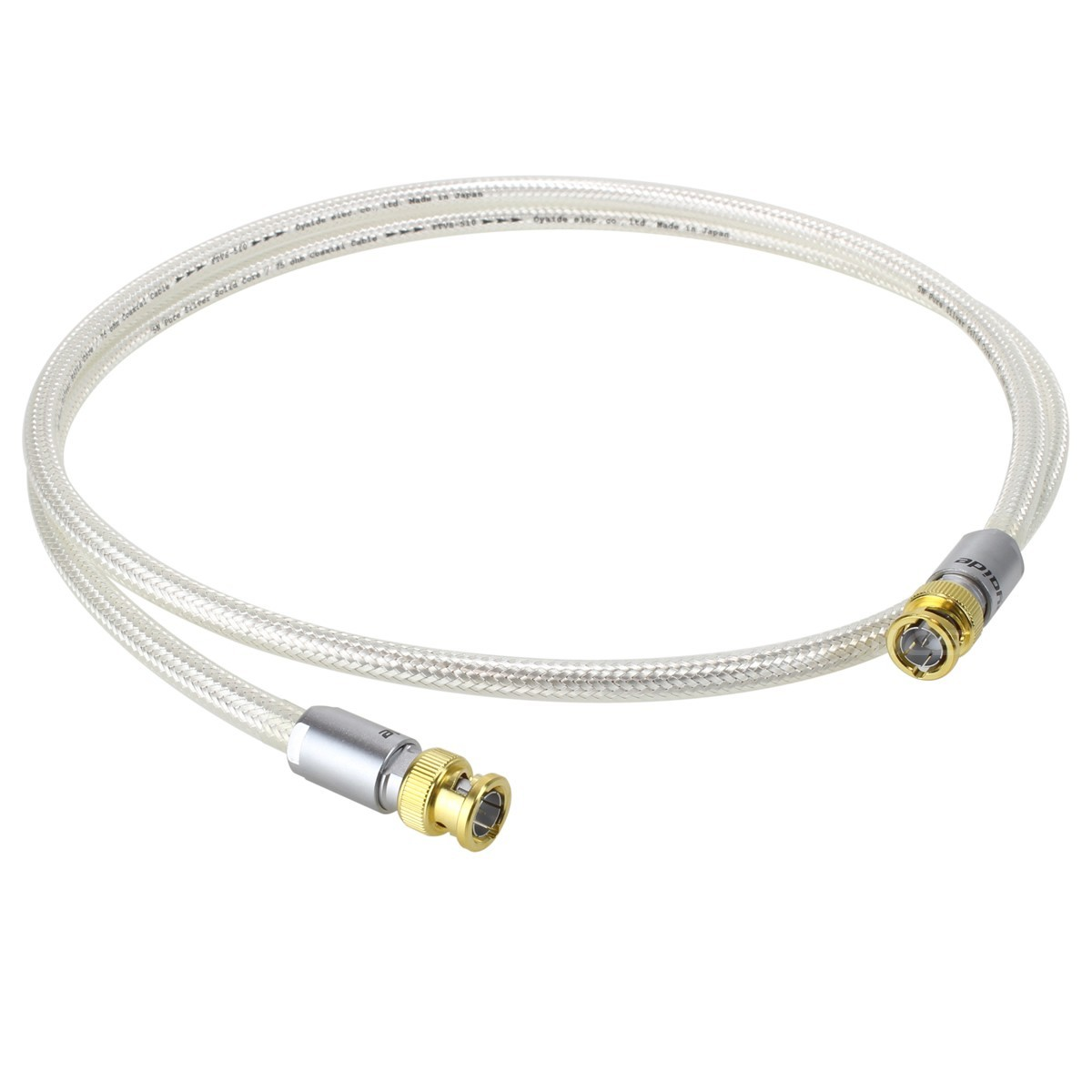 OYAIDE DB-510 Câble Numérique Coaxial BNC 75 Ohm Argent 1.3m (Unité)
