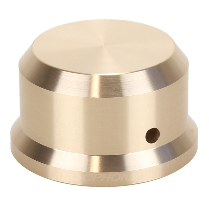 Knob Aluminium D Shaft 38x22mm Ø6mm Gold for Potentiometer