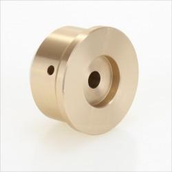 Bouton Aluminium Axe Méplat 38x22mm Ø6mm Or pour Potentiomètre