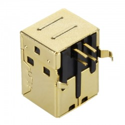 Gold plated USB Female Type B 2.0 plug