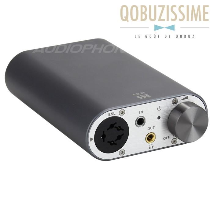 KINGSOUND M-03 Amplificateur Portable pour Casque Electrostatique Titanium
