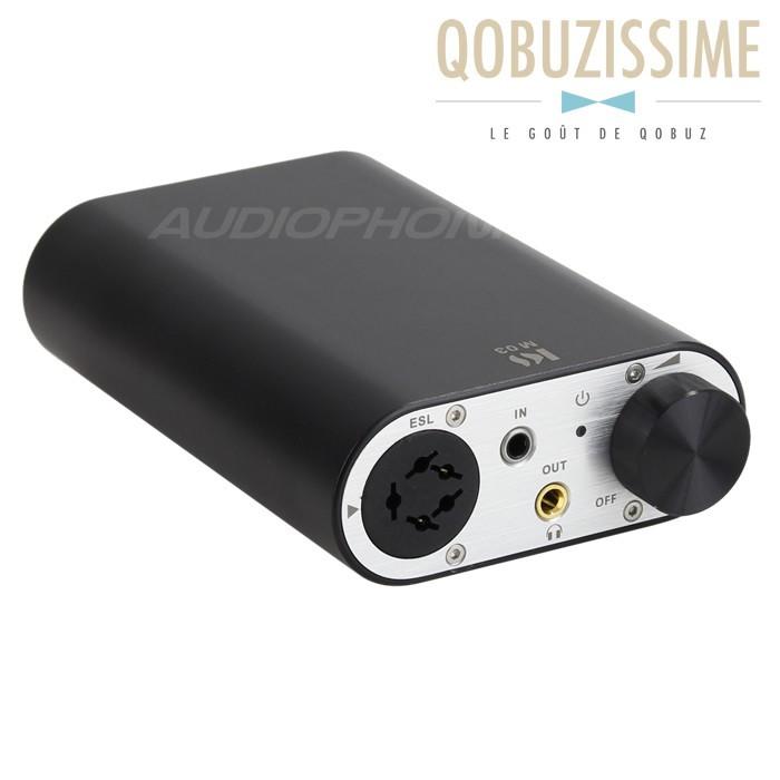 KINGSOUND M-03 Amplificateur Portable pour Casque Electrostatique Noir