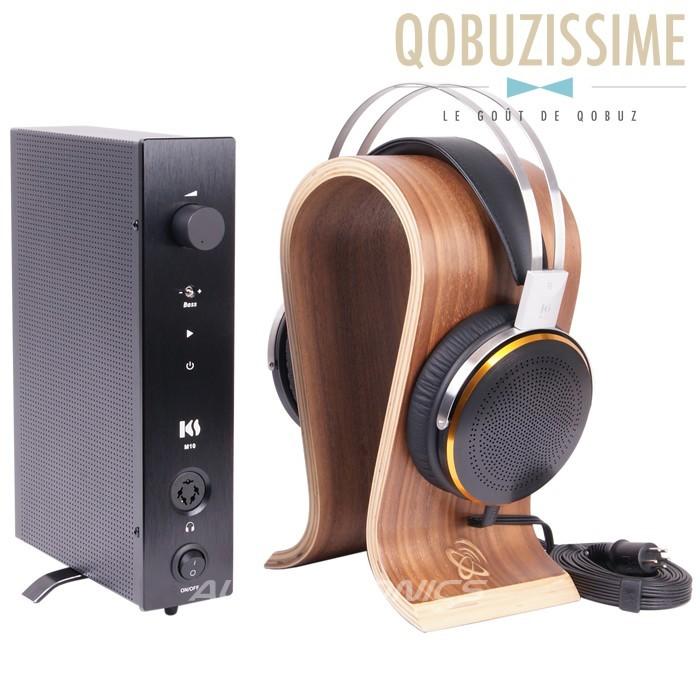 KINGSOUND M-10 Amplifier & KS-H3 Electrostatic Headphone Pack Black
