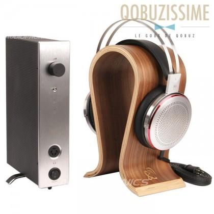 KINGSOUND M-10 Amplifier & KS-H3 Electrostatic Headphone Pack Silver