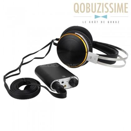 Pack KINGSOUND M-03 Portable Amplifier & KS-H3 Electrostatic Headphone Black