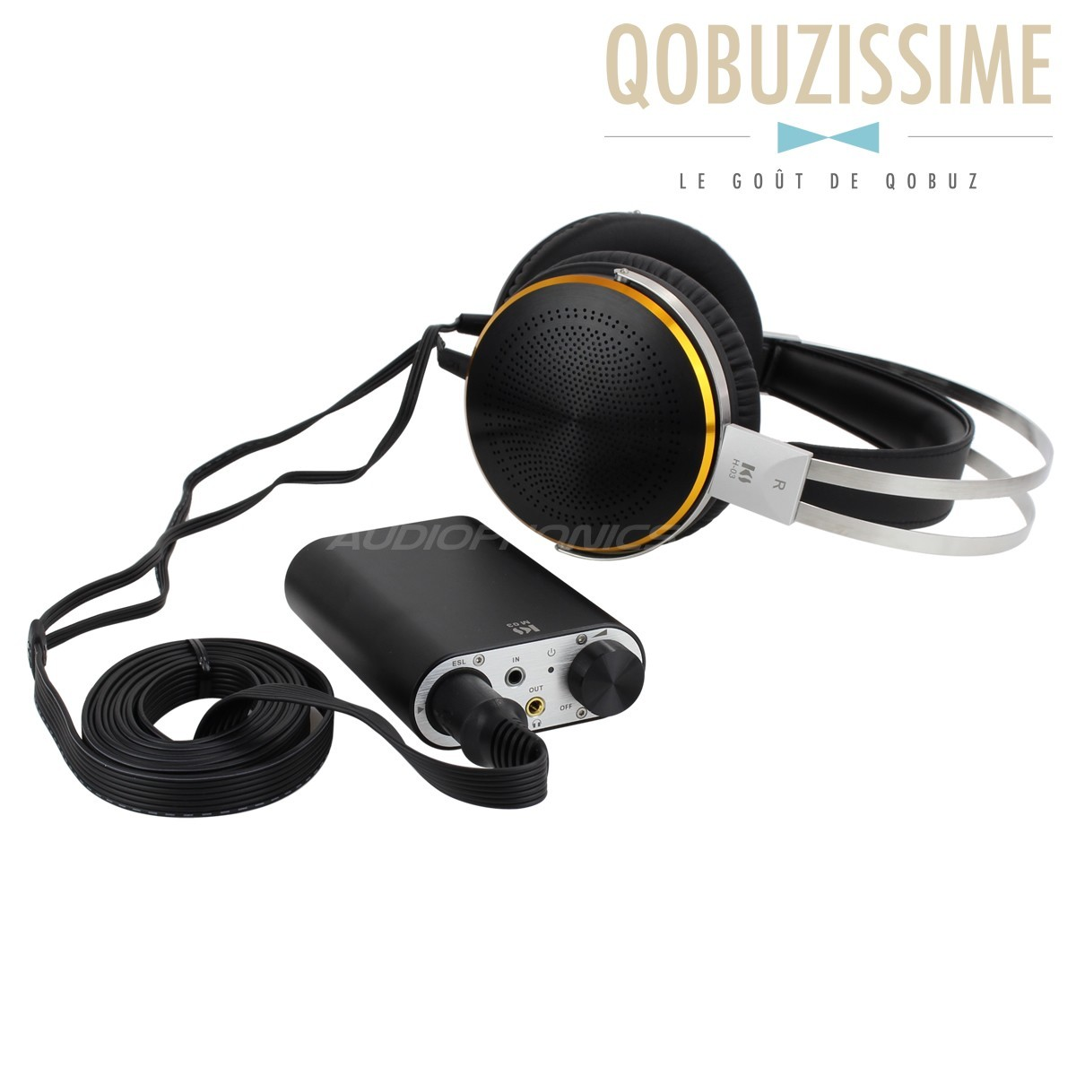 KINGSOUND M-03 Portable Amplifier & KS-H3 Electrostatic Headphone Pack Black