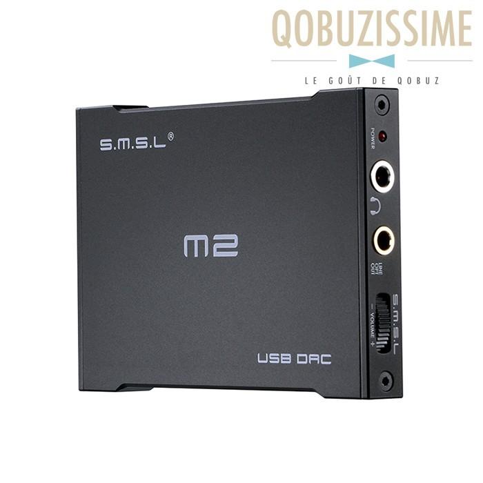 SMSL M2 DAC USB ES9023 24bit 96kHz Amplificateur casque 130mW 32 Ohms