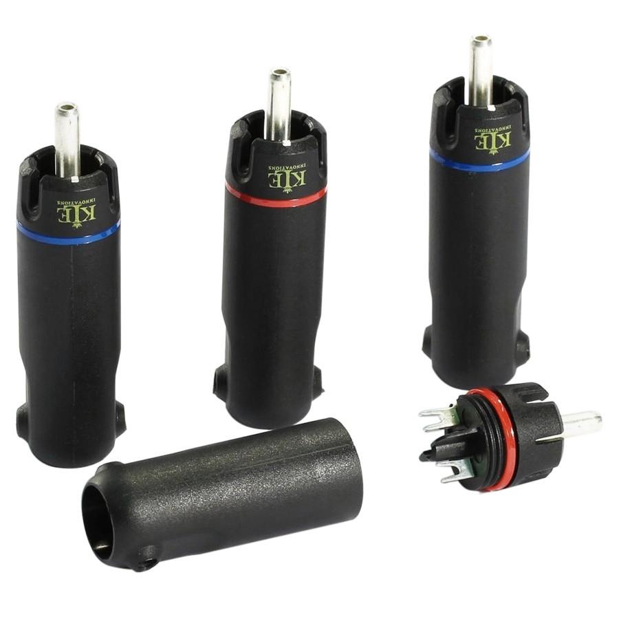 KLEI Harmony Silver Connecteurs RCA Argent pur Ø 9.5mm (Set x4)