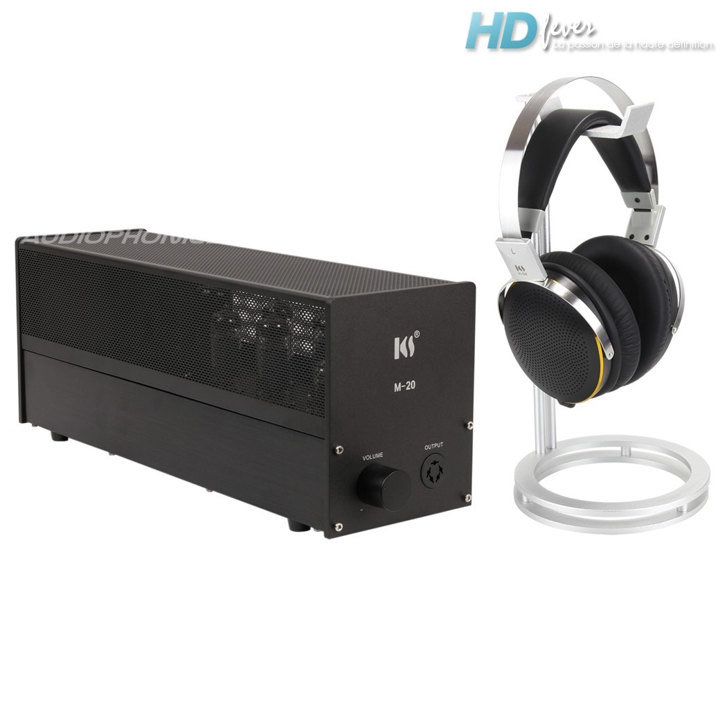 KINGSOUND M-20 Tube Amplifier & KS-H4 Electrostatic Headphone Pack Black