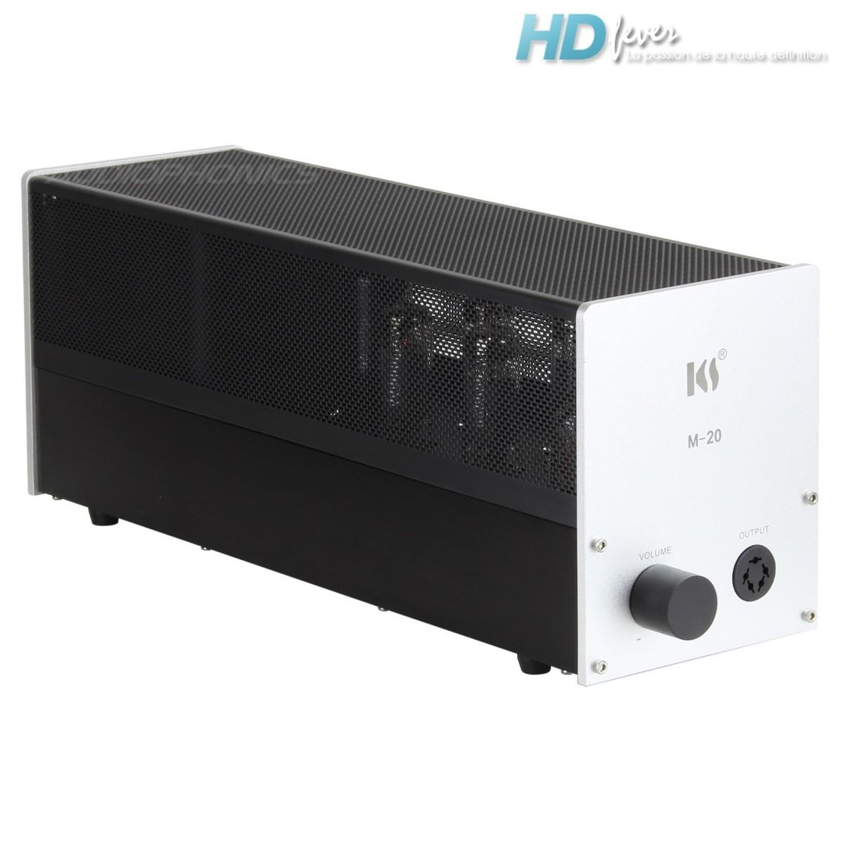 KINGSOUND M-20 Amplificateur à Tubes pour Casque Electrostatique Argent