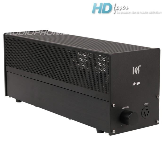kingsound m 20 amplificateur tubes pour casque electrostatique noir audiophonics. Black Bedroom Furniture Sets. Home Design Ideas