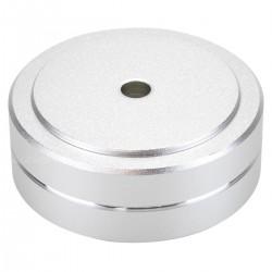 Pied Amortissant Aluminium 40x15mm M4.5 Argent (Unité)