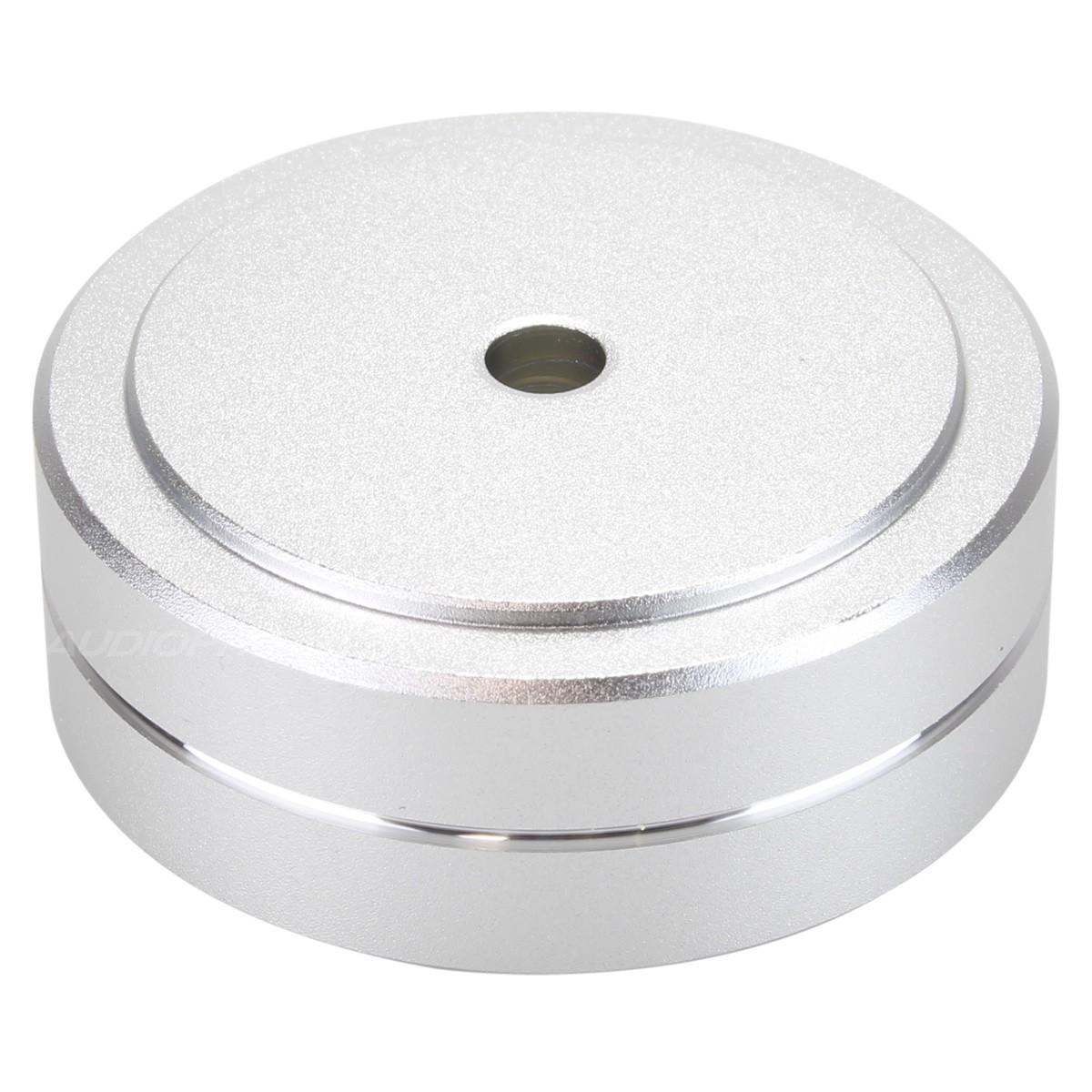 Aluminium Damping Foot 40x15mm M4.5 Silver (Unit)