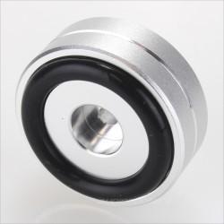 Aluminium damping feet Silver 40x15mm M4.5