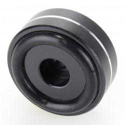 Pied amortissant Aluminium Noir 40x15mm M4.5 (Unité)