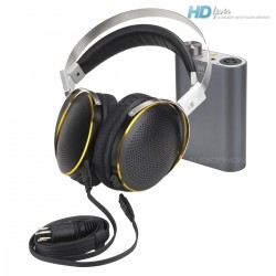 KINGSOUND M-03 Portable Amplifier & KS-H4 ESL Headphone Pack Black/Titanium
