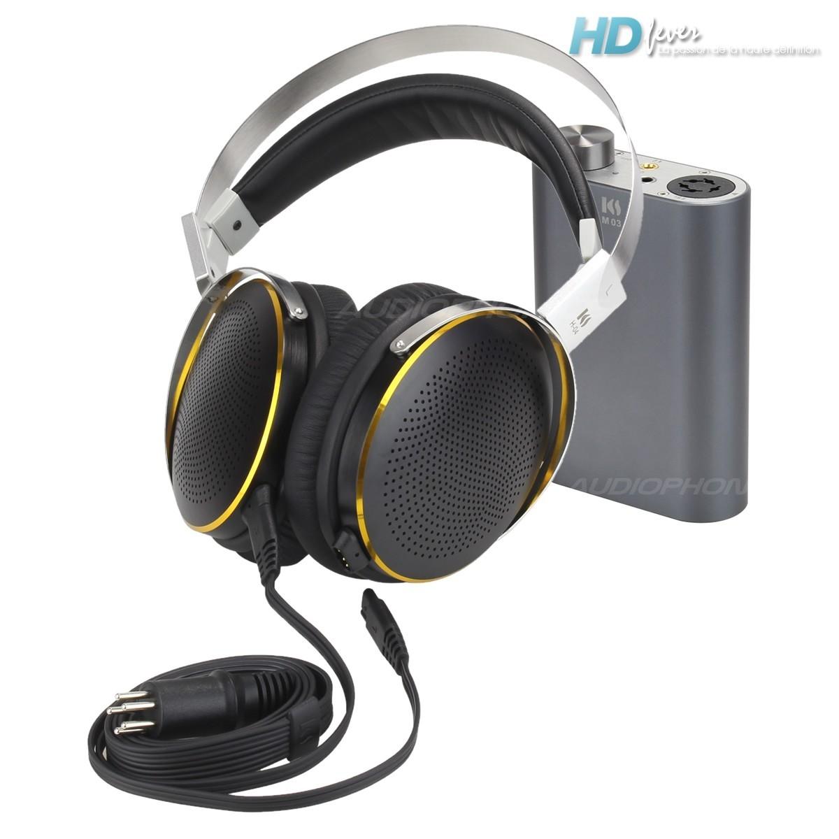 KINGSOUND M-03 Portable Amplifier & KS-H4 ESL Headphone Pack Black/Titanium