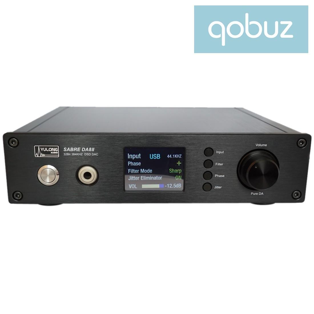 Yulong Audio SABRE DA8 II 2 DSD DAC 32bit/384kHz Class A Noir