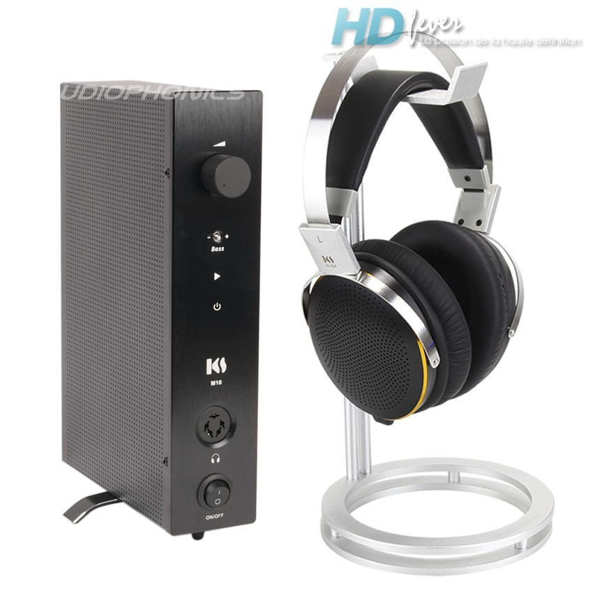 KINGSOUND M-10 Amplificateur & KS-H4 Casque Electrostatique Pack Noir