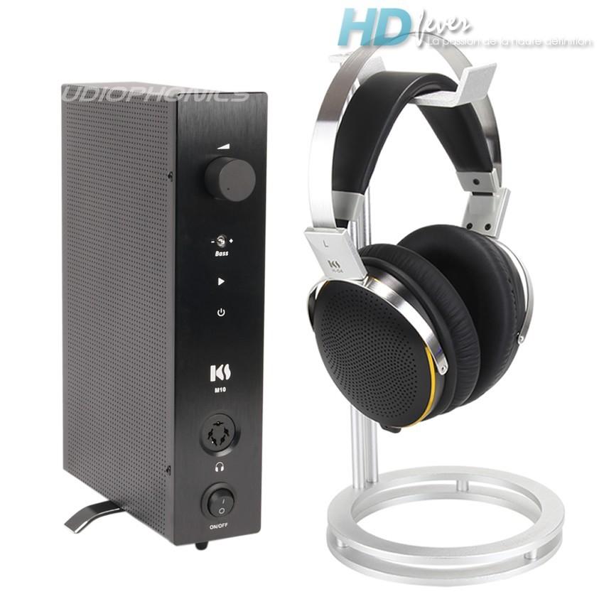 KINGSOUND M-10 Amplifier & KS-H4 Electrostatic Headphone Pack Black
