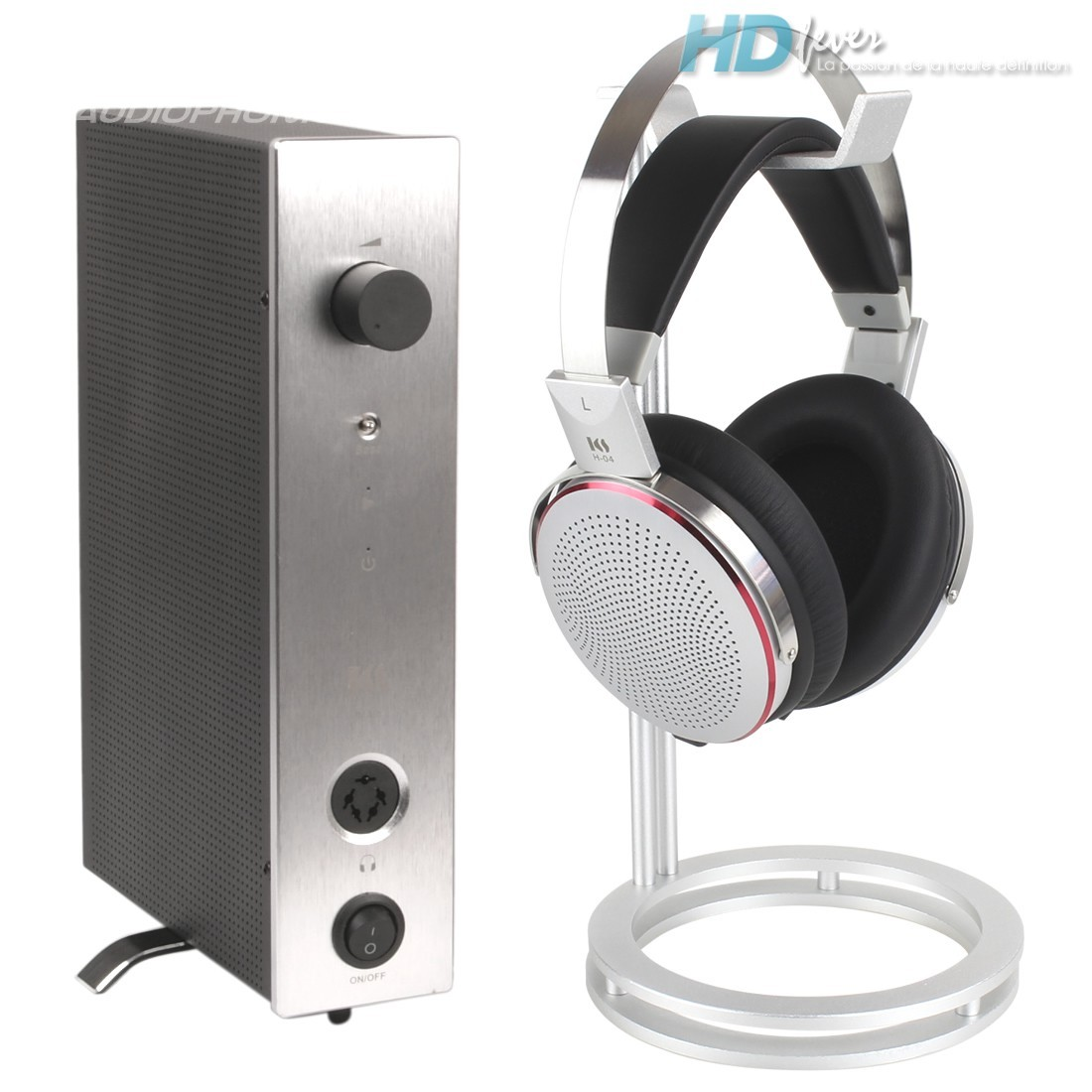 KINGSOUND M-10 Amplificateur & KS-H4 Casque Electrostatique Pack Argent