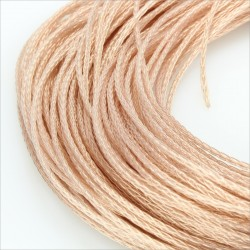 Unbalanced interconnect braided wire for Headphone OCC Copper PTFE isolated