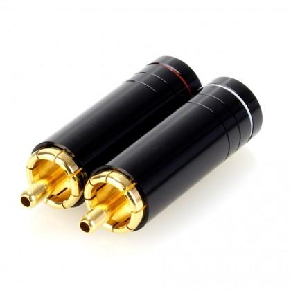 ELECAUDIO TE-RC90S RCA Plugs Tellurium Copper Gold Plated Ø 8.5mm (Pair)