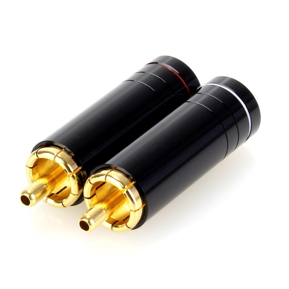 ELECAUDIO TE-RC90G RCA Plugs Tellurium Copper Gold Plated Ø8.5mm (Pair)