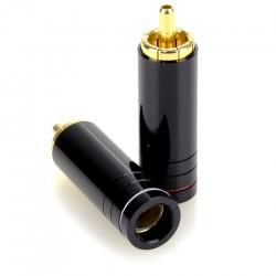 ELECAUDIO TE-RC90S Connecteurs RCA Cuivre Tellurium Plaqué Gold Ø 8.5mm (Pair)