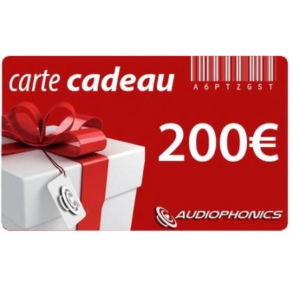 Gift Card AUDIOPHONICS - 200€