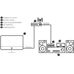 BLUESOUND NODE 2 Lecteur Reseau Hi-Fi 24bits/192KHz Noir