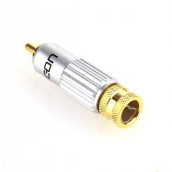 Hicon CM13-NTL Connecteur RCA Plaqué Or Ø 8mm (Unité)