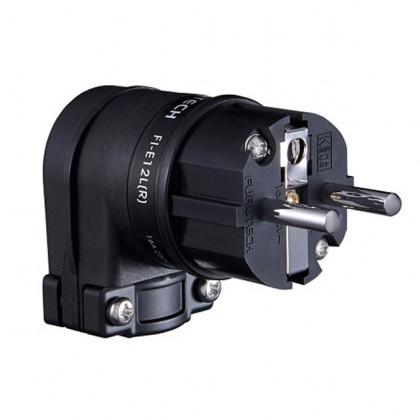 FURUTECH FI-E-12L (R) Angled Schuko Connector Rhodium Plated Ø18mm