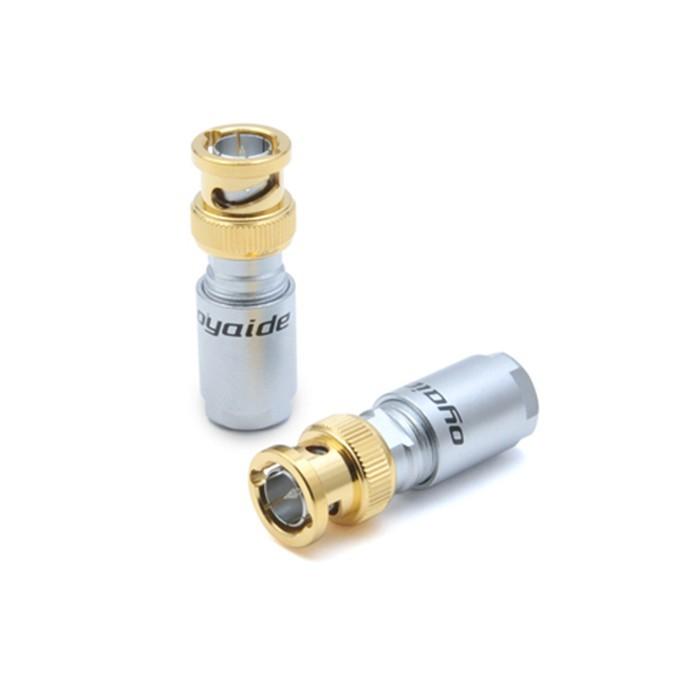 OYAIDE SLSB-BNC Connecteur BNC Pur Argent 4N 75 Ohm Ø 9mm (l'unité)