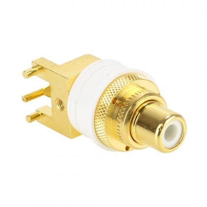 WBT-0234 RCA plug for PCB soldering Gold plated OFC Copper (Unit)