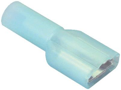 Cosses 6.3mm femelle isolées Nylon 1 - 2mm² (Set x10)